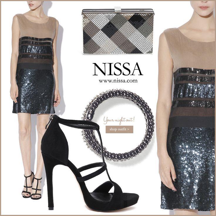 www.nissa.com  #nissa #outfit #style #stylish #night #out #fashion #fashionista #dress #party #heels #footwear #shoes #sandale #rochie #plic #clutch #bratara #bracelet