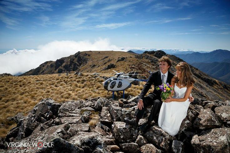 New Zealand Wedding Packages can take you to the top of Mt Starveall by helicopter where you will enjoy uninterrupted views of New Zealand's mountains and sea, providing a stunning backdrop for your personalised wedding ceremony!