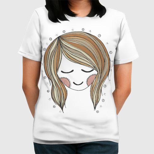 Brown Haired Girl dari Tees.co.id oleh Doodlindoodledoo