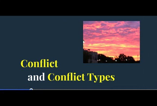 FLIPPED LESSON: Conflict Types