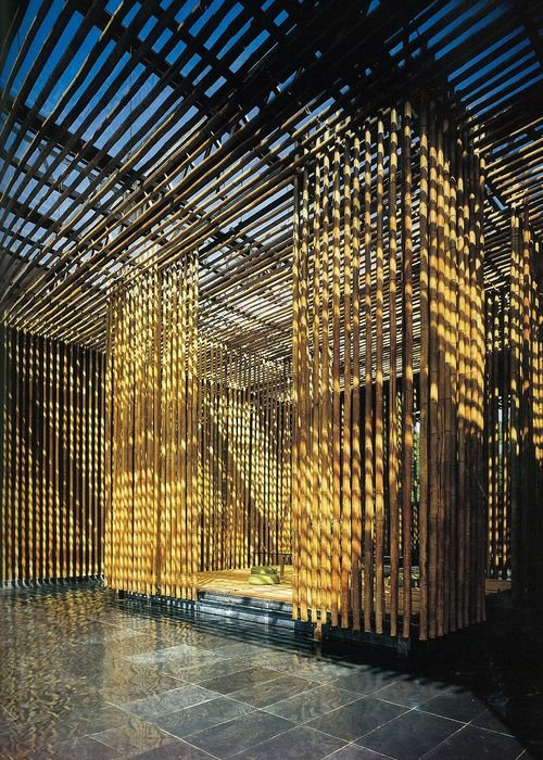 Bamboo Wall House, Beijing, China by Kengo Kuma Architect