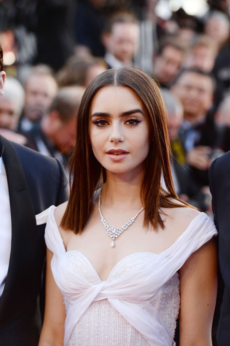 From lily collins hairstyles 2017 best haircuts and hair colors - Lily Collins In Annual Cannes Film Festival At On May 2017 In Cannes France