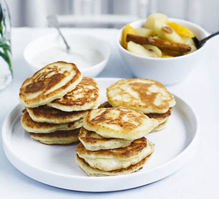 pancakes with winter fruit compote vanilla yogurt compote amp compote ...