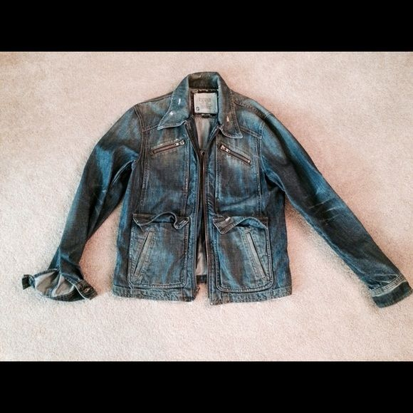Guess Men's Jean jacket size L Guess handmade limited edition men's jean jacket Guess Jackets & Coats Jean Jackets