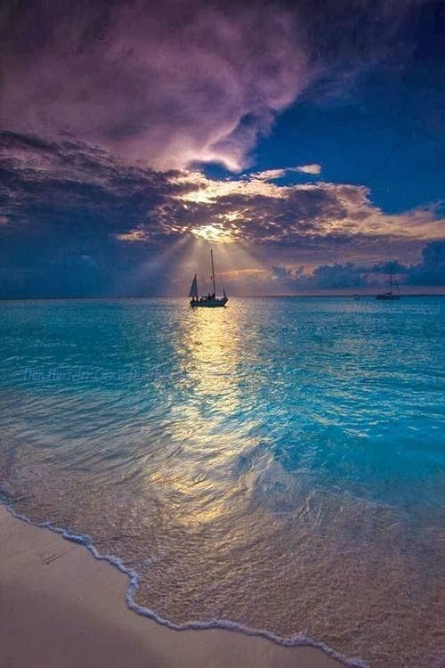 Bucket list!!!! Go on a sailing/fishing trip in clear blue waters!!! This would be so peaceful.