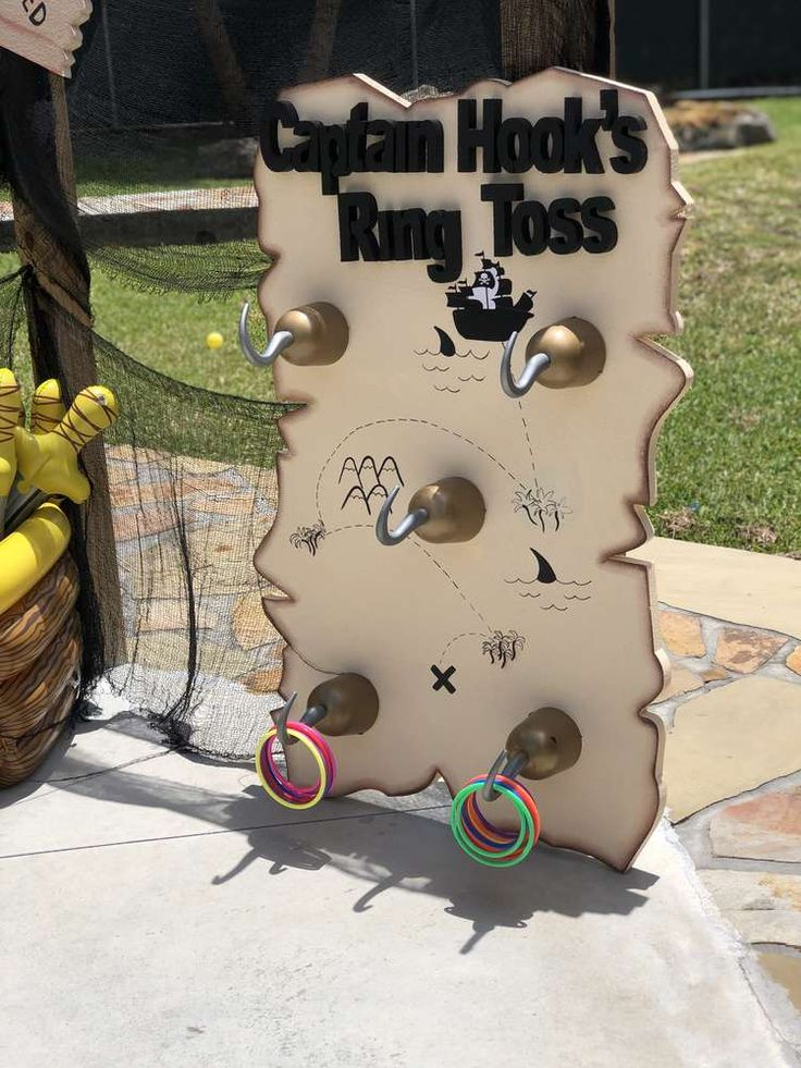 The party activities at this pirate birthday party are fantastic! See more party…