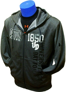 Product: Full-Zip Hood with Vertical Logo