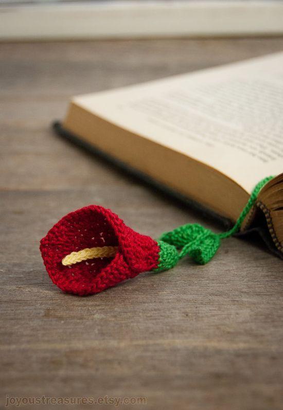 Calla Lily Crocheted Bookmark - so