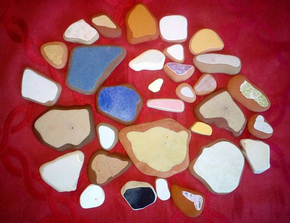 30 pieces /Italian genuine Sea Pottery for collection jewelry