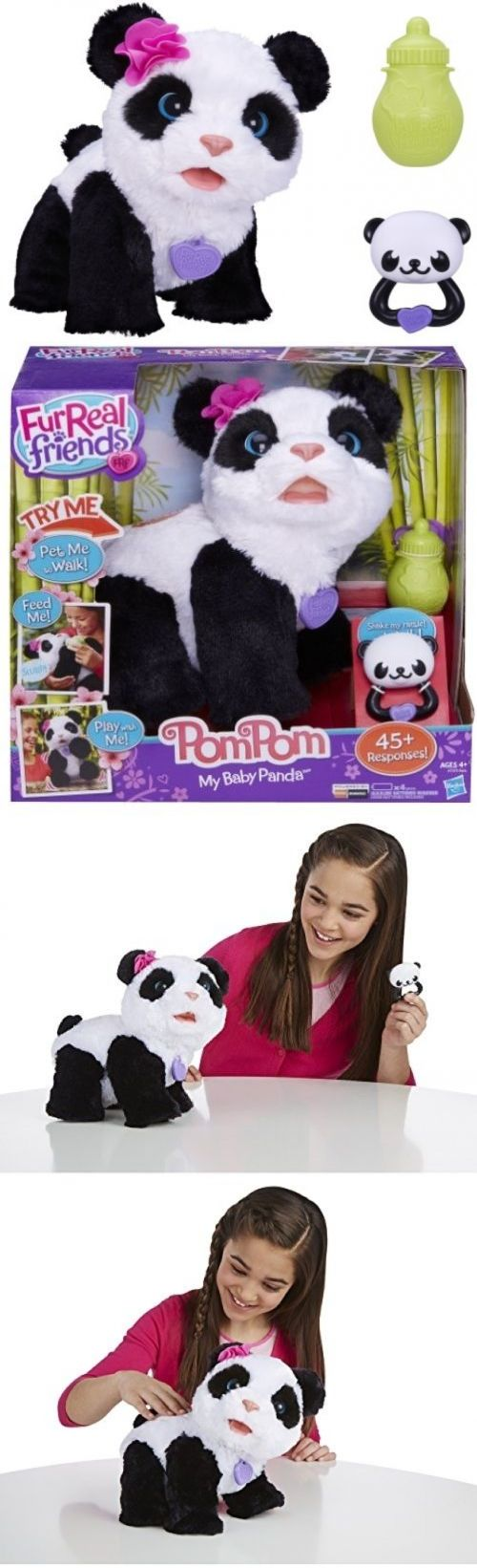 FurReal Friends 38288: Baby Panda Pet Move Sound Friend Pom Interactive Bear Toy Tiger Electronics Fur -> BUY IT NOW ONLY: $87.98 on eBay!