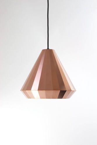 Lampe suspension contemporaine (cuivre) COPPER LIGHT CL-25 David Derksen Design