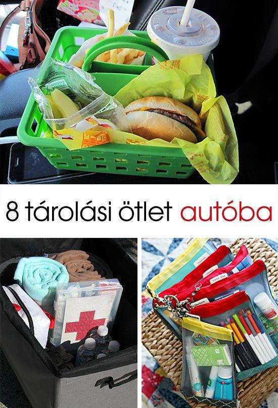 8 tárolási ötlet autóba 8 car organizing ideas #rend #auto #organizing