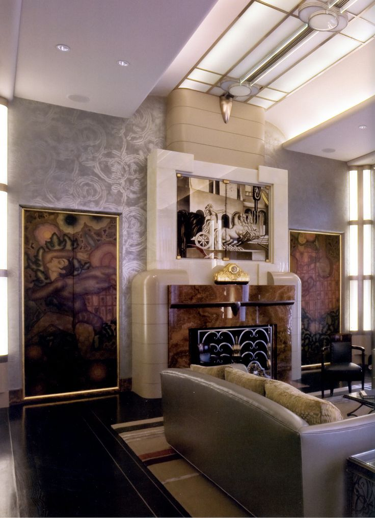 58 best images about art deco fireplaces on for Deco interiors