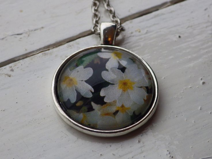 Flowers of Ireland Necklace -- Primrose by studioCworkshop on Etsy