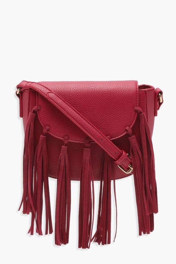 d7cb975d43c boohoo Ivy Boho Tassel Cross Body Bag | Sewing - bags and Purses ...