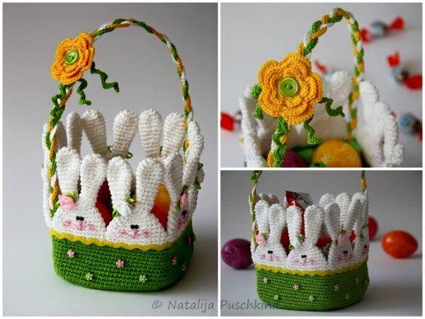 Luty Artes Crochet: Cesto de Crochê