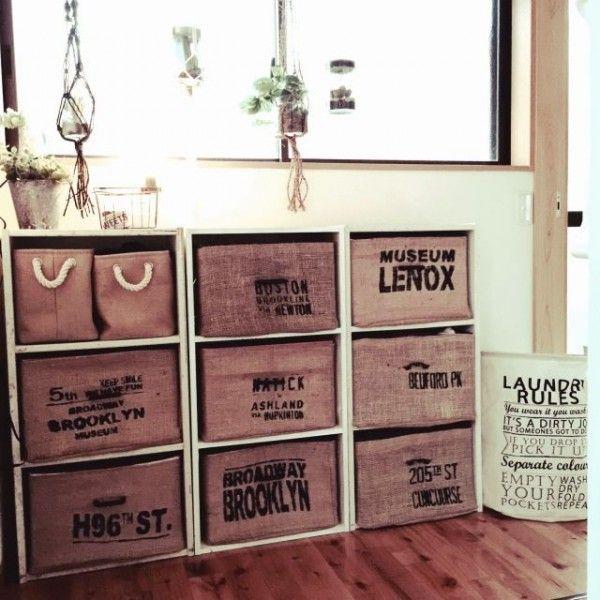 カラーボックスを収納でおしゃれに使うDIYアイデア20選! | folk ジュートボックス合わせて男前棚に☆