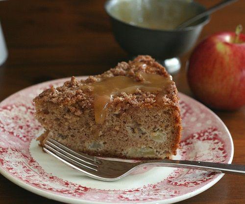 Apple Cake Keto Recipe: Caramel Apple Coffee Cake