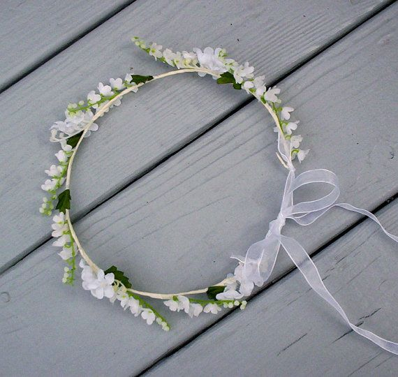Wedding Lilly of Valley Bridal hair crown flower by AmoreBride,