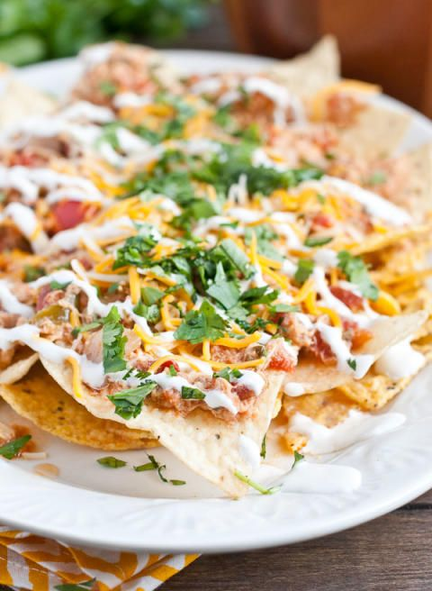 Slow Cooker Chicken Chilaquiles | Recipe | Spicy, Chicken and Nachos