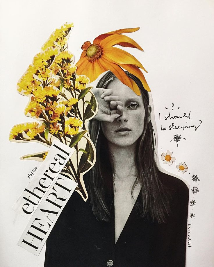 flower collage by kate rabbit - No. 06/100