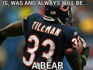 CB Charles Tillman 33 . The best CB in Bears history .