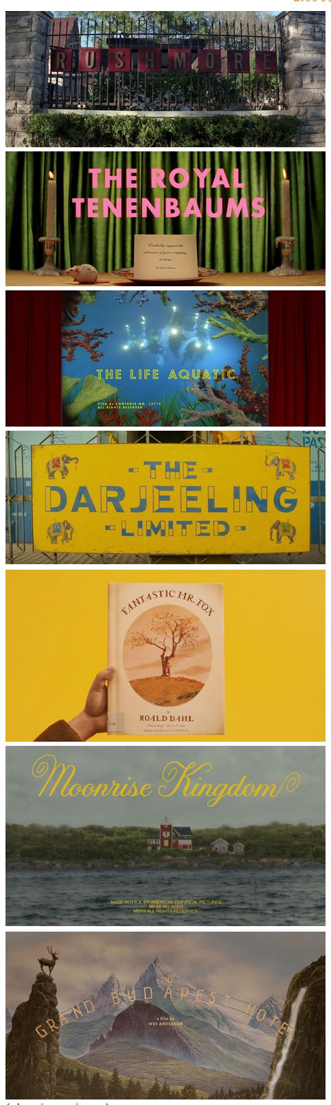 Wes Anderson Title Cards