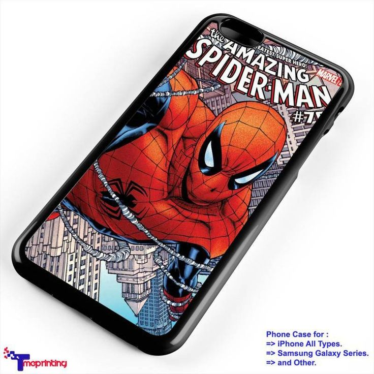 The Amazing SpiderMan 1 - Personalized iPhone 7 Case, iPhone 6/6S Plus, 5 5S SE, 7S Plus, Samsung Galaxy S5 S6 S7 S8 Case, and Other
