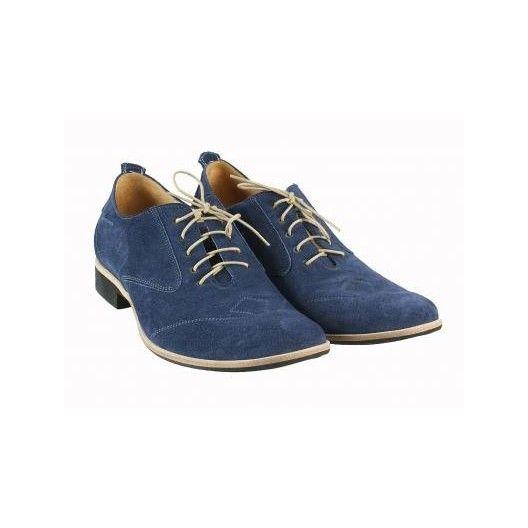 Pánske kožené topánky modré PT010 - manozo.hu