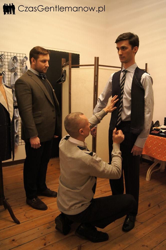 I przymiarka - kamizelka  First suit fitting - vest
