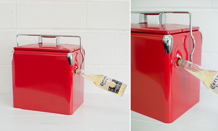 Charge Air Cooler Ice Box : Retro cooler esky red s and bags