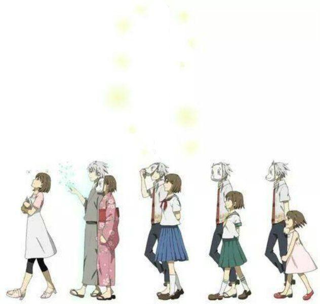 *gross sobbing* Gin and Hotaru        anime   gin   hotaru   hotarubi no mori e