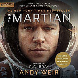 """The Martian"" by Andy Weir, narrated by R. C. Bray."