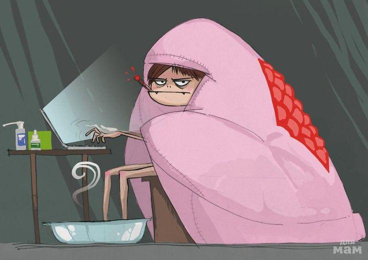 Смешная картинка температура болею