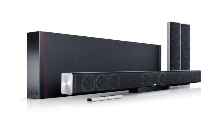 Eine Soundbar, dazu einen Subwoofer, und zudem Surround-Speaker, so präsentiert sich das neue Teufel Cinesystem Trios 5.1-Set, das wahlweise als Teufel Cinesystem Trios 5.1-Set M oder Teufel Cinesystem Trios 5.1-Set L angeboten wird.