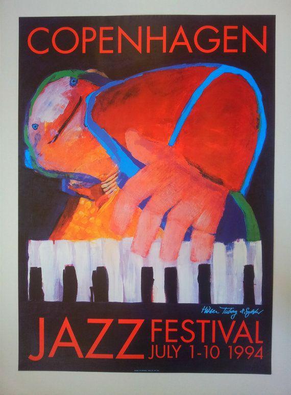 1994 Copenhagen Jazz Festival  Original Vintage by OutofCopenhagen