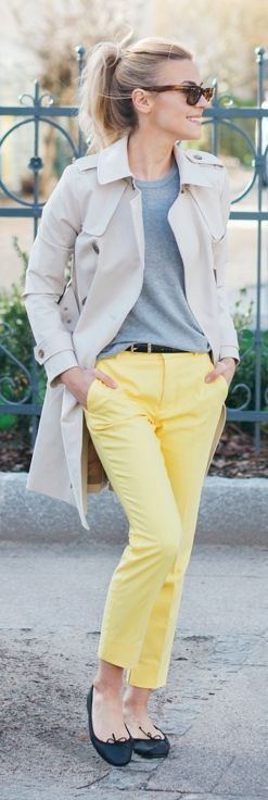 Yellow Pants Outfit Idea by Make Life Easier