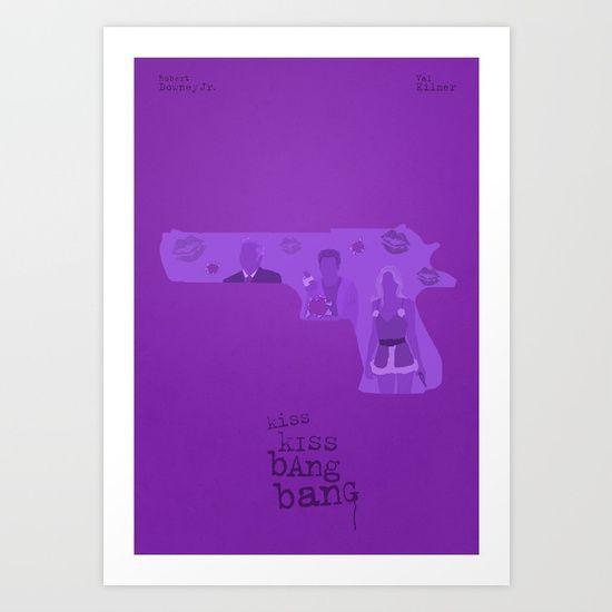 """Kiss Kiss Bang Bang"" poster by Simon Fischer"