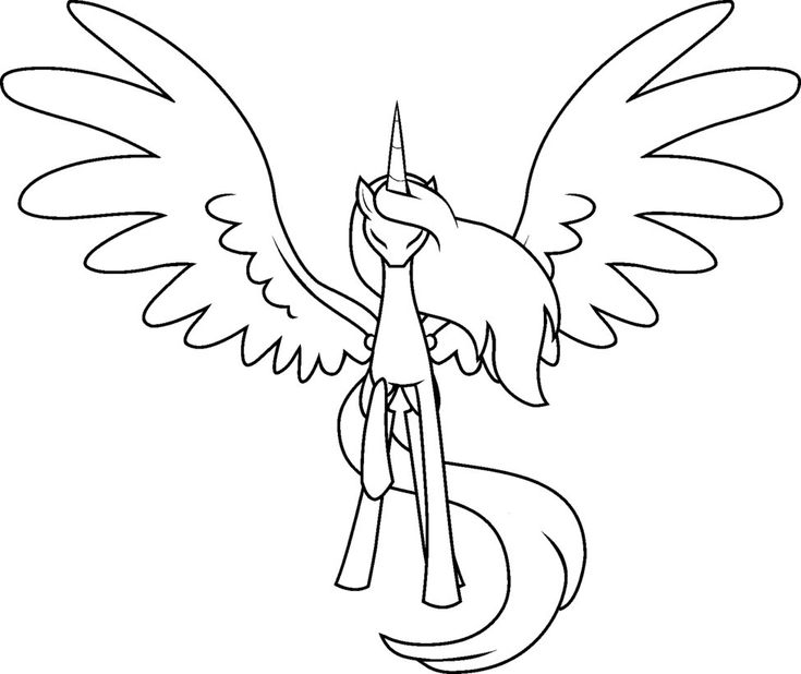 MLP Base deviantART Alicorn Outline
