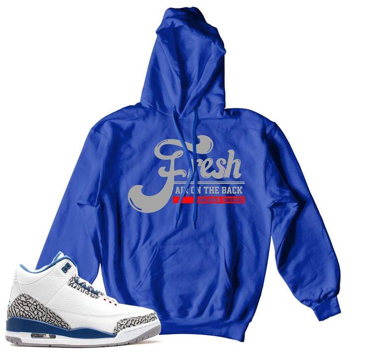 Jordan 3 True Blue Hoody - Fresh Air - Blue