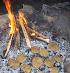 "Ash Cakes / 'Stick Bread' Recipe. This super simple recipe is the Traditional ""Mountain-man"" breakfast food, no utensils, pots or pans required. Ash Cakes consist of equally simple ingredients, click image for recipe."