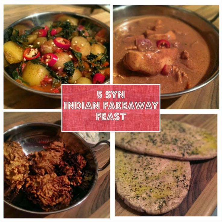 5 Syn Indian Fakeaway Feast Slimming World Recipes To
