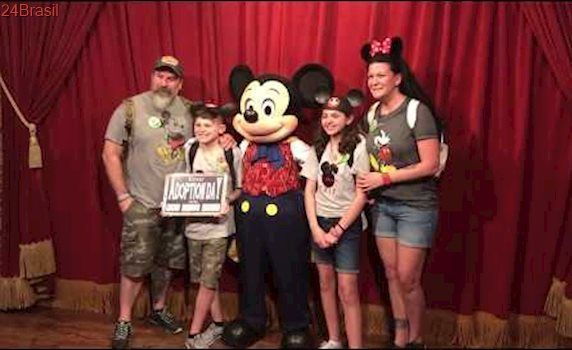 Disney World Adoption Surprise | Talking Mickey Mouse