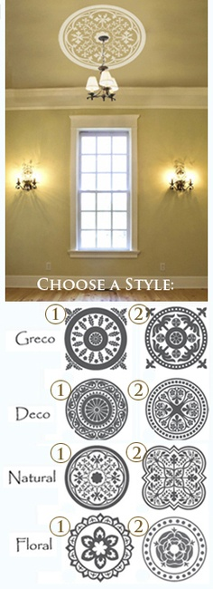 More ceiling decal options for the guest bedroom... and at a cheaper price... $48.00