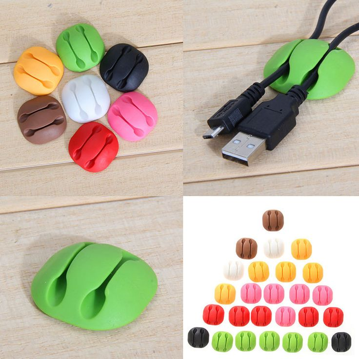 5pcs Smart Adhesive Wire Cord Cable Drop Clips Ties Organizer Holder Line Set #UnbrandedGeneric