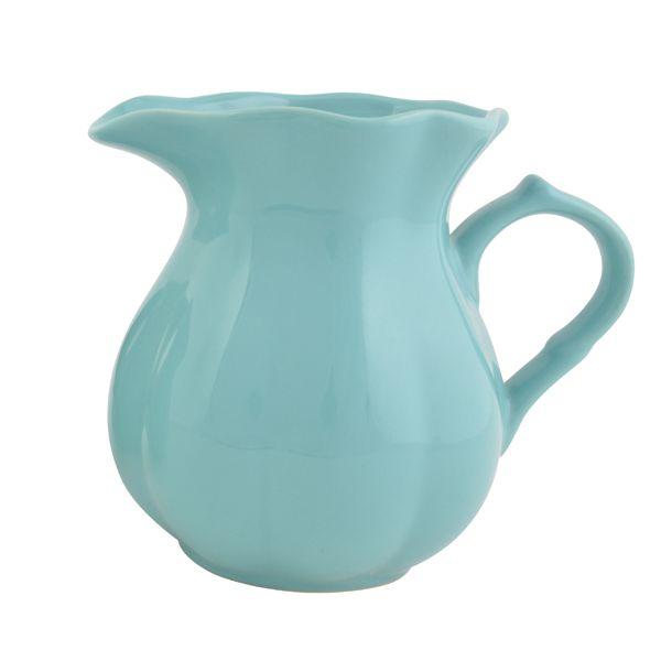 Dzbanuszek ceramiczny shabby chic Aqua Mynte ,shabby chic, styl skandynawski