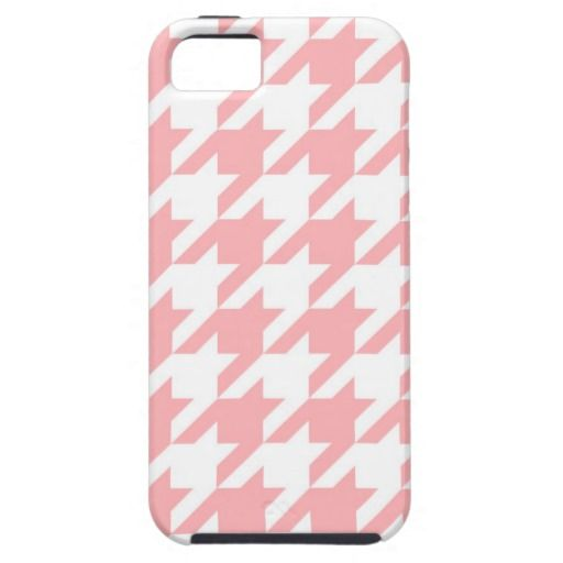 Pastel houndstooth seamless pink and white fashion pattern illustration. Traditional Scottish plaid sweet baby fabric iPhone 5 case
