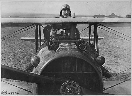 Eddie Rickenbacker in his SPAD S.XIII.  Rickenbacker flew a total of 300 combat hours, reportedly more than any other US pilot in the war. On September 24, 1918, he was named commander of the squadron, and on the following day, he claimed two more German planes, for which he was belatedly awarded the Medal of Honor in 1931 by President Herbert Hoover. After claiming yet another Fokker D.VII on September 27, he became a balloon buster by downing observation balloons on Sept 28 to 30 Oct 1918.