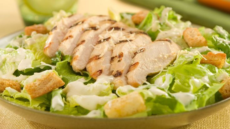 Chicken Caesar Salad With Creamy Dressing