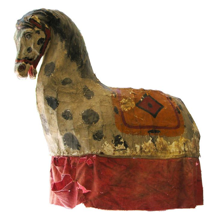 French Paper Mache Horse Carnival Costume France 1890 Painted ...